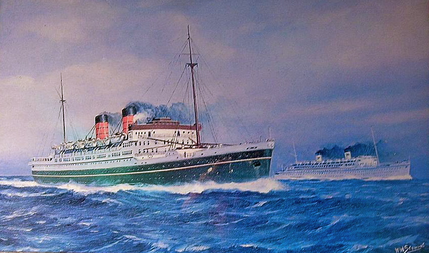 SS Mariposa 1932 - the first of a trio of Matson liners