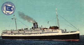 """1937 Cruise – From New York to Canada aboard the Eastern Steamship Company… The """"Night Boat"""" series…"""