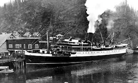 COASTAL SHIPS – from Vancouver to British Columbia ports and Alaska… the Union Steamship Company…
