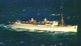 Matson Line's famed liner SS LURLINE in San Diego…