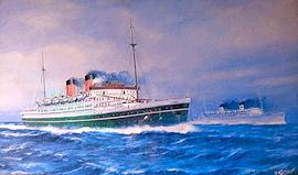 The TSS AWATEA (Union Steamship Company overtakes the SS MARIPOSA (Matson Lines) – August 1938….
