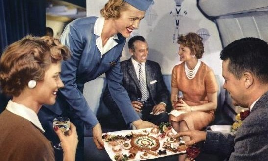 First Class Air Travel, Then and Now…