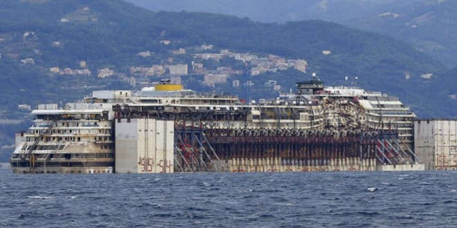 Costa Concordia, shipwrecked cruise liner, completes last voyage… Cruise-ships can be very dangerous…