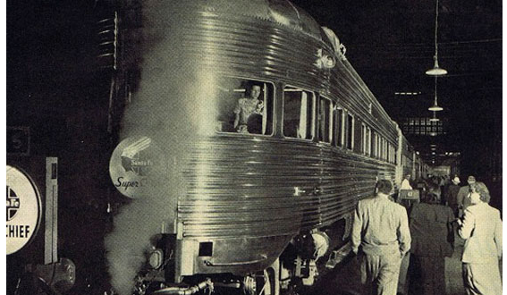 """THE SUPER CHIEF – """"THE TRAIN OF THE STARS"""" from Clark Gable to Frank Sinatra…"""