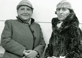 Gertrude Stein and Alice B. Toklas arriving in New York aboard the French Line's SS Champlain in 1934…