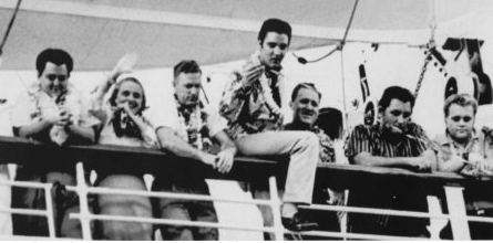 ELVIS IN HAWAII… sails aboard the SS Lurline and SS Matsonia… 1957…