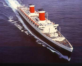 STEP AOARD THE SS UNITED STATES…