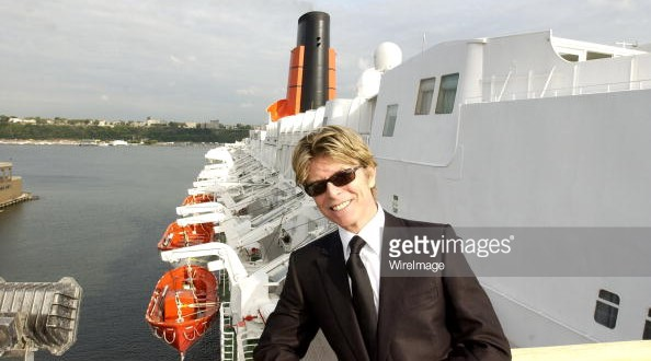David Bowie, with a fear of flying, sailed on many liners and cruise-ships.