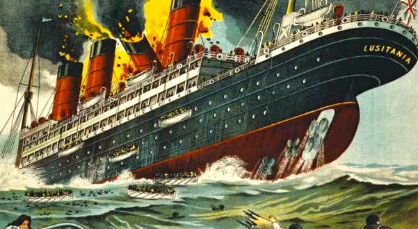Tragic sinking of the RMS Lusitania… May 7, 1915… 1,119 Dead…