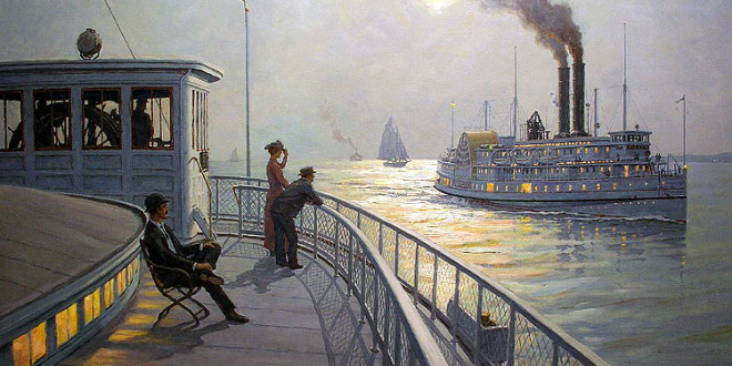 THE NIGHT BOATS… NEW YORK TO BOSTON… THE FALL RIVER LINE…