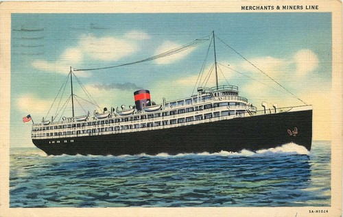 merchants-miners-ship-line-postcard-posted-1937-passenger-freight-2b189344a9fd22e5e0c9ab9c052d0aff