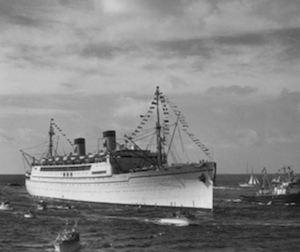75th Anniversary – Day of Infamy – Pearl Harbor – Matson Line's SS Lurline caught in the middle of WW 2.