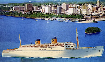 Last cruise to Castro's Cuba in 1959 onboard Home Line's SS Homeric