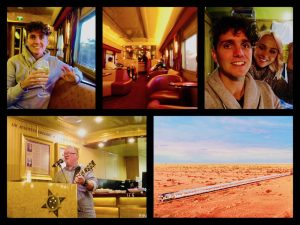 Indian Pacific, train, australia, sydney, perth, adeliade, Mad Max, Stephen & Jess, vloggers, Flying The Nest, Great Southern Rail, Venice Simplon-Orient-Express, Queen of the Desert,The Ghan, streamliners, first class trains, santa fe super chief