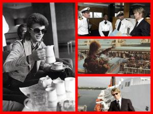 David Bowie, RMS Canberra, QE 2, RMS Oronsay, cruising, fear of flying, Michael L. Grace, cruising the past, cruise history, celebrities
