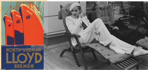 Marlene Dietrich and Cary Grant aboard the SS Europa and the SS Bremen during the 1930s