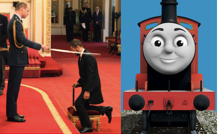 THOMAS The TANK ENGINE BEATLEs SIR RINGO STARR Knighted By PRINCE WILLIAM Who Was A Big Fan Of Ringo As