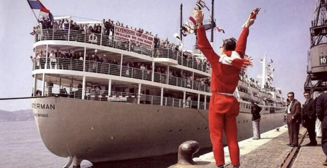Immigrants, Tourists and Students sailed on the Dutch Victory ships during the 1950s
