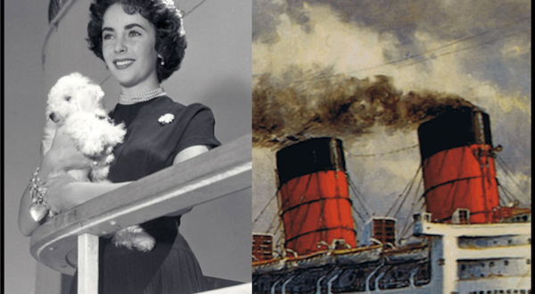 Elizabeth Taylor sailed many times times aboard Cunard Line's RMS Queen Mary, RMS Queen Elizabeth and the QE2.
