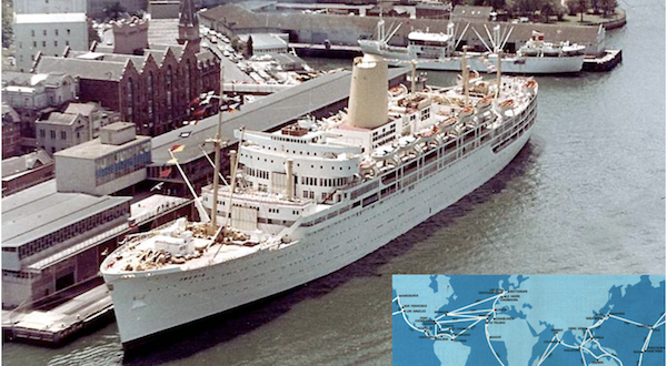 P&O and Orient Lines served the world during the 1960s