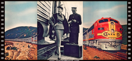 PSYCHO star JANET LEIGH onboard the SUPER CHIEF – the All-Pullman Train of the Stars.