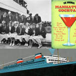 ss manhattan, united states lines, olympic team, 1930s, retro, John f Kennedy, marlena dietrich, olympics 1936, manhattan cocktail
