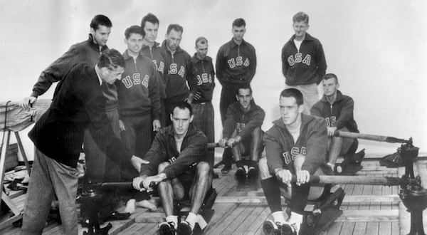 USA Olympic Team sails aboard the SS AMERICA in 1948