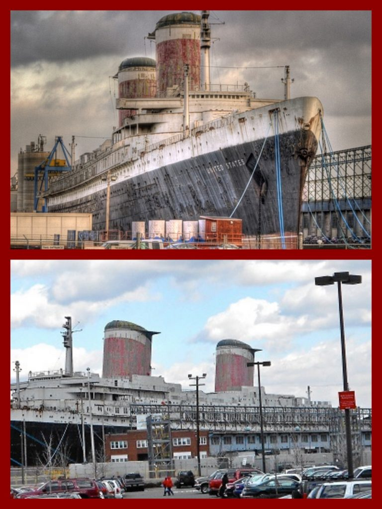 United States Lines, SS United States, Steamships, Liners, Mid-Century, 1950s, 1960s, Cruise Lines, Cruising The Past
