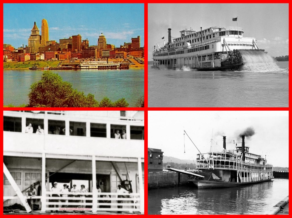 cruise line history, cruising the past, greene line, riverboats