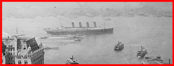 101st Anniversary of the RMS LUSITANIA sinking.