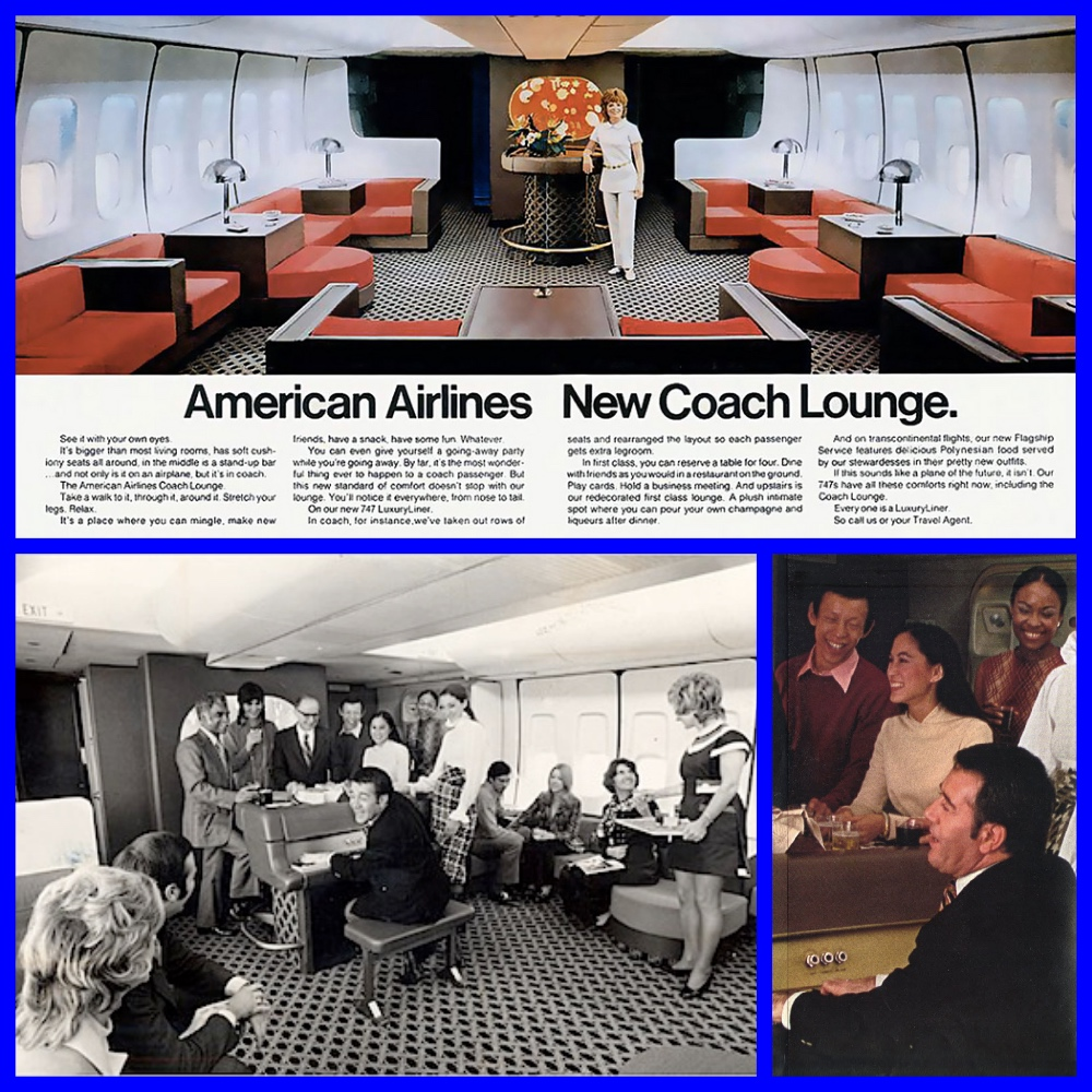 Economy Coach on American Airlines in the 1970s