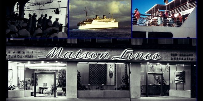 Raymond Loewy's mid-century designs for Matson Line's SS Lurline and modern ticket office.