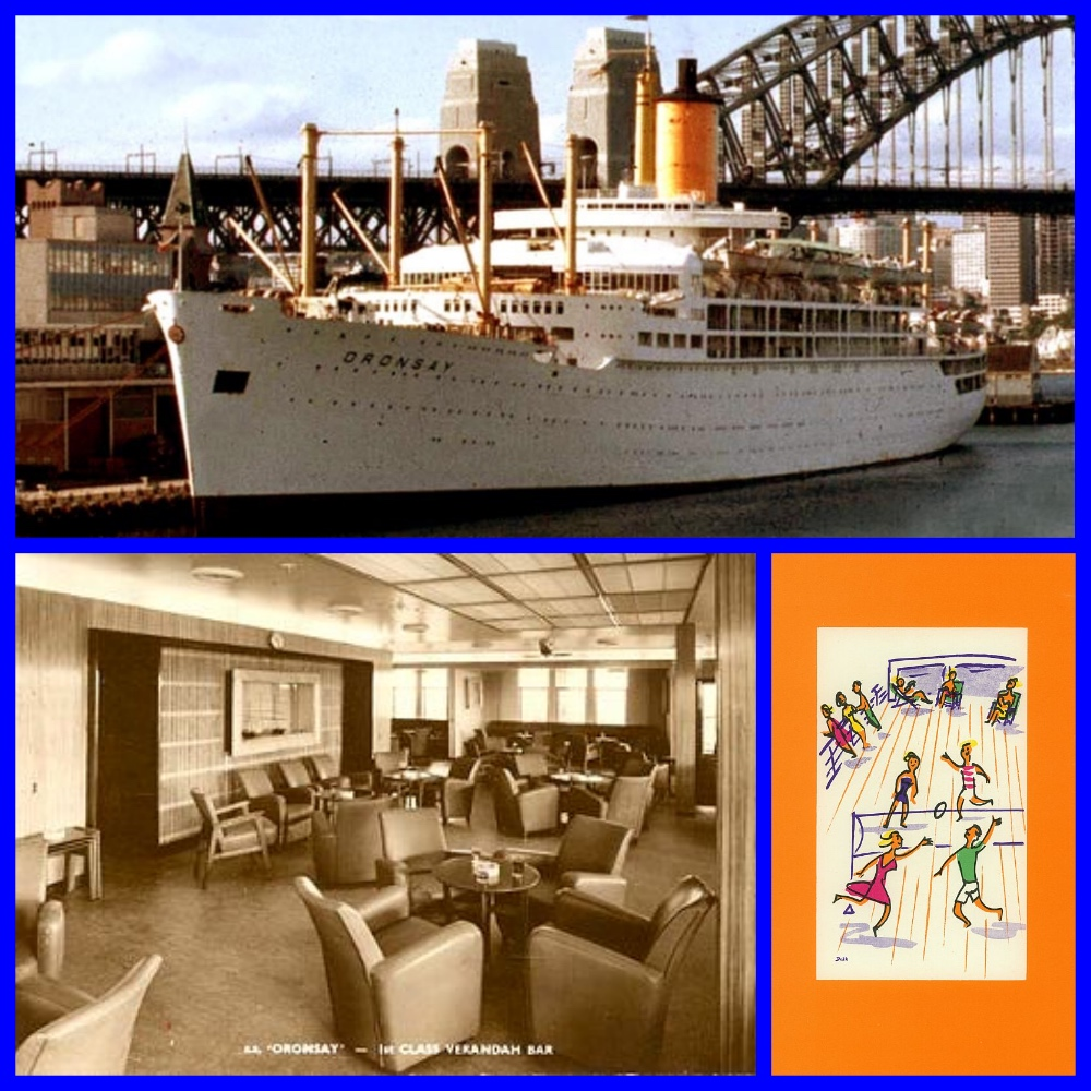 Michael l grace, rms oronsay, P&O Orient Lines, cruise, 1960s, retro, cruising, first class, liners, cruise ships, horse racing at sea