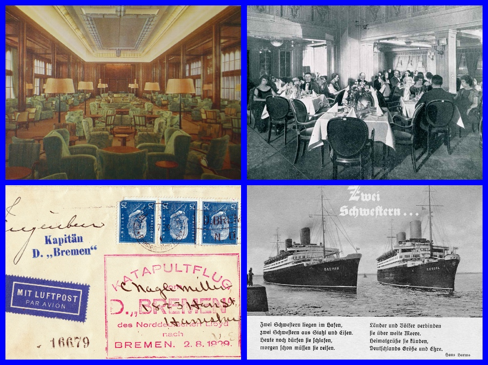 Ss Bremen, North German Lloyd, RMS Mauretania, ss Columbus, ss europa, Nazi Party