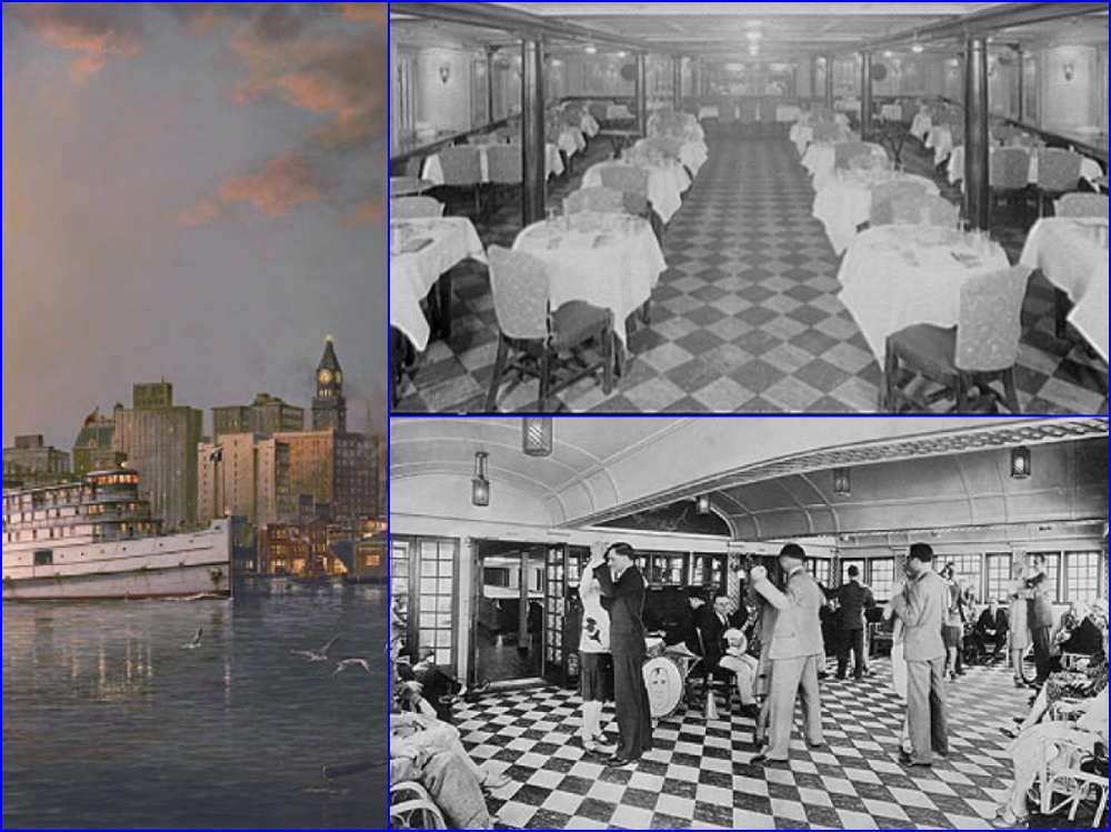 City of Norfolk, City of Richmond, District of Columbia, Old Bay Line, Baltimore Steam Packet Company, Night Boats, Steamers, Cruises