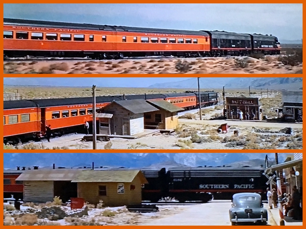 John Sturges, Spencer Tracy,Robert Ryan,Anne Francis,Dean Jagger,Walter Brennan,Lee Marvin, Ernest Borgnine. Southern Pacific, Bad Day At Black Rock, Daylight train, Streamliner, Michael Grace, Cruising the Past, MGM, Metro Goldwyn Mayer, Oscars, Academy Awards