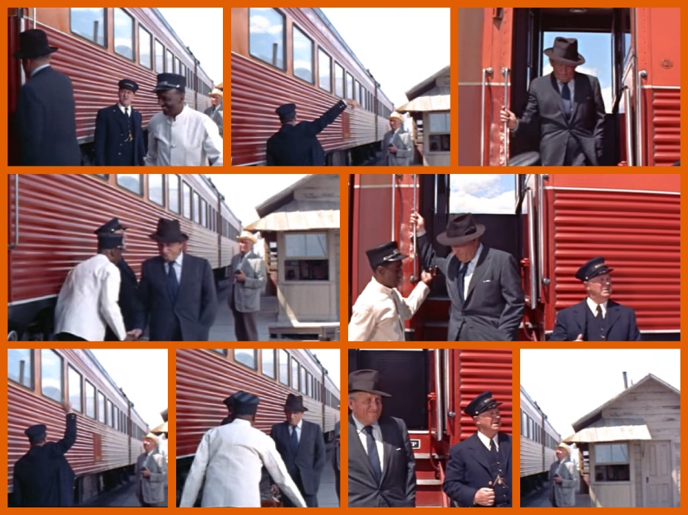 John Sturges, Spencer Tracy,Robert Ryan, Anne Francis, Dean Jagger, Walter Brennan, Lee Marvin, Ernest Borgnine. Southern Pacific, Bad Day At Black Rock, Daylight train, Streamliner, Michael Grace, Cruising the Past, MGM, Metro Goldwyn Mayer, Oscars, Academy Awards