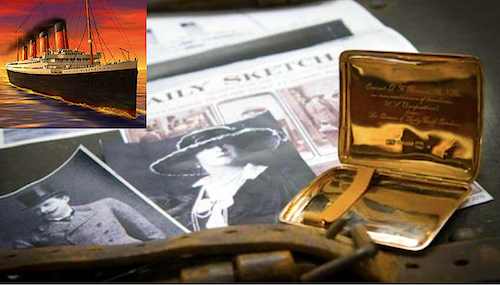 RMS Titanic artifact surfaces: Gold cigarette case 'with a hint of scandal'