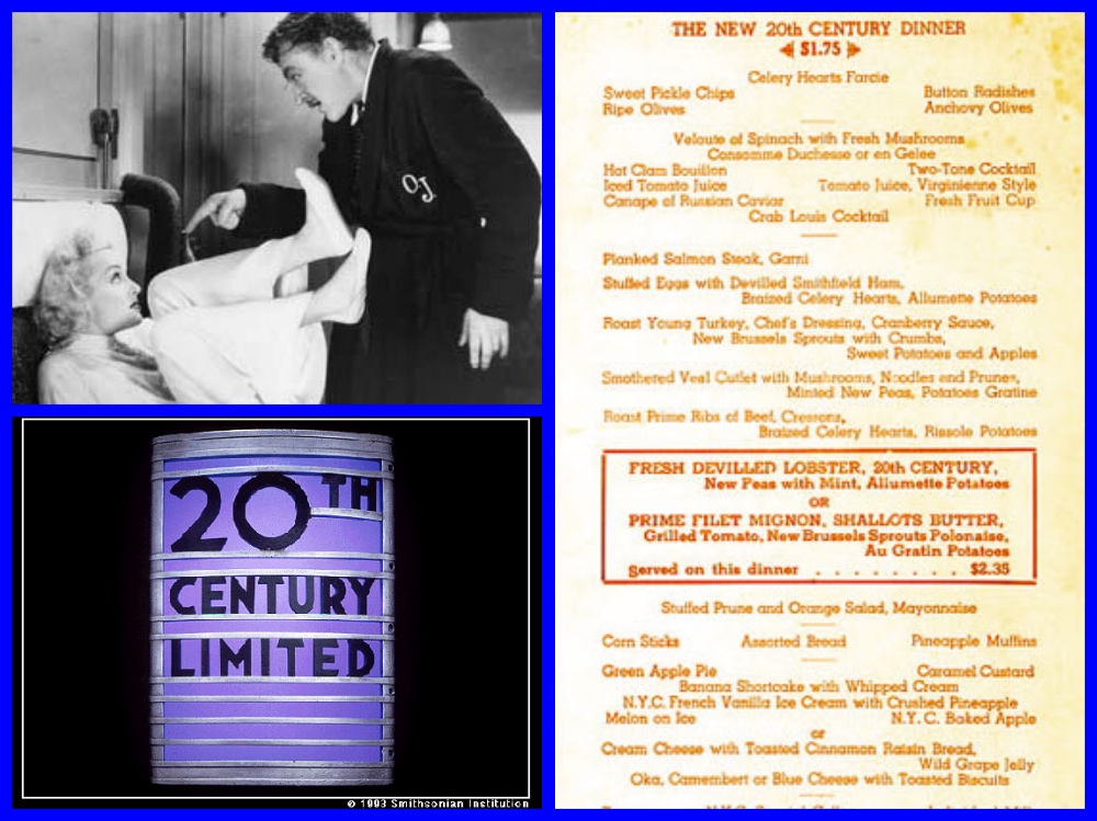 20th Century Limited, New York Central, Red Carpet, Marshall Field, Bing Crosby,  Robert R. McCormick, Bob Hope, Bette Davis,  Doris Day, Wrigleys, Henry Dreyfuss Art Deco, Dwight D. Eisenhower, Beatrice Lilly, Carole Lombard,  John Barrymore, Alfred Hitchcock, North by Northwest,  all-Pullman, streamliner, MICHAEL L GRACE, CRUISING THE PAST