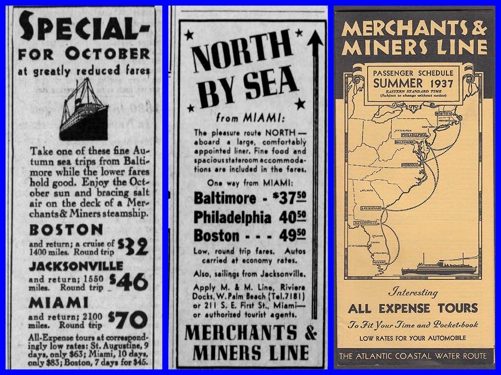 Merchant & Miners, Steamships, Coastal Shipping, SS Dorchester, Passenger service, coastal ships, Windsor Line, Cruising the past, Michael L. Grace