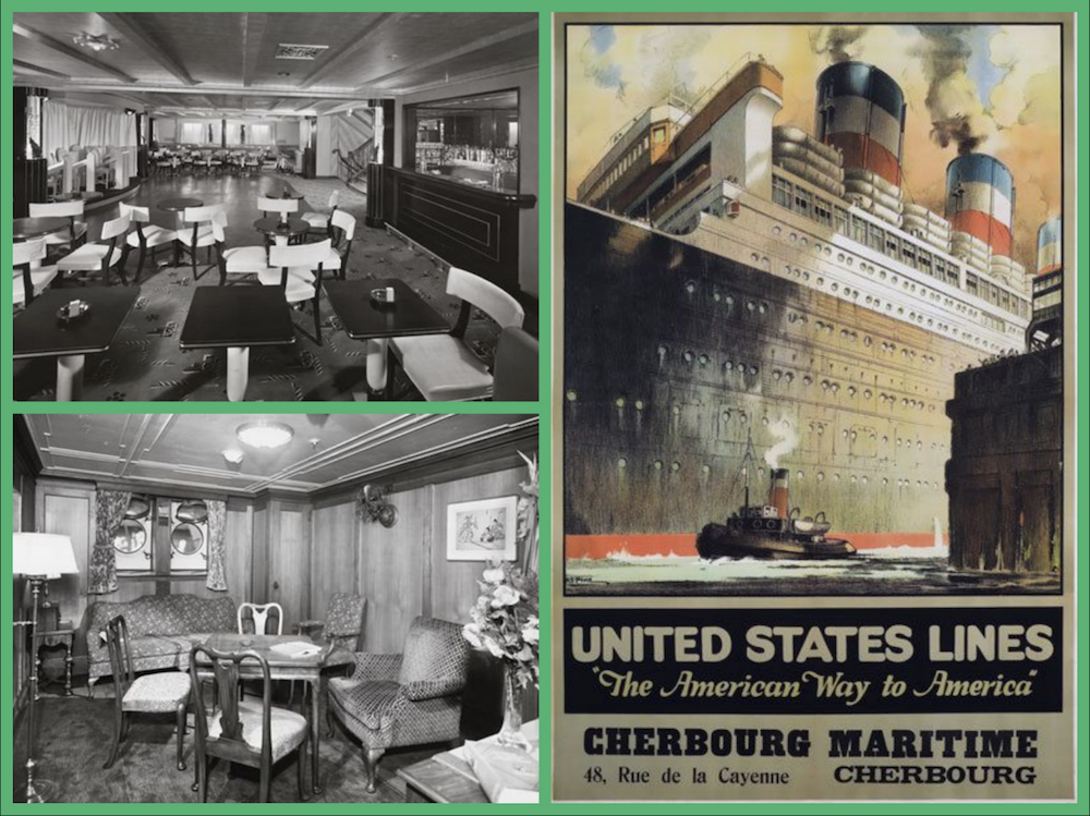 SS Manhattan, United States Line, Liners, Steamships, Cruising The Past, Michael L. Grace, Augustus Grace