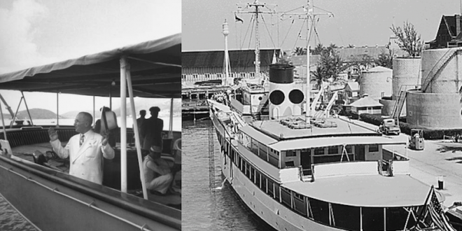 The USS WILLIAMSBURG… President Harry Truman's presidential yacht…
