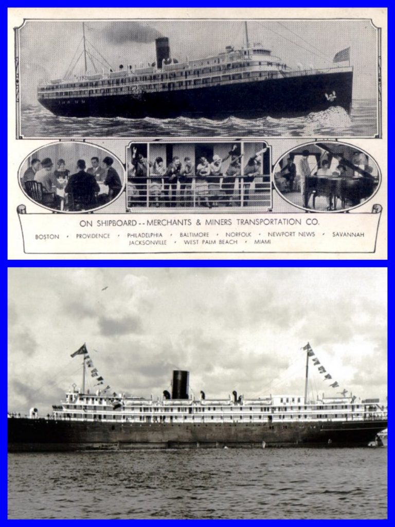 Merchant & Miners, Steamships, Coastal Shipping, SS Dorchester, Passenger service, coastal ships, Windsor Line, Cruising the past, Michael L. Grace