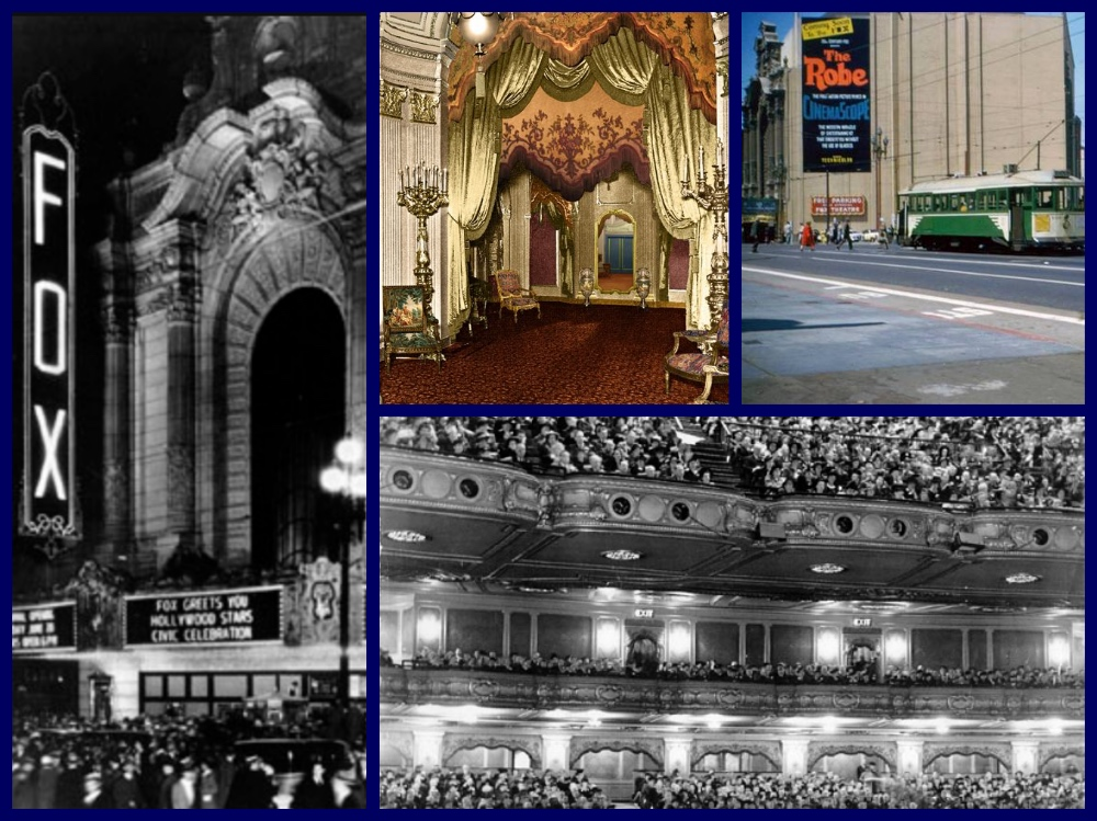 San Francisco,Fox Theatre,Herb Caen,Pullman,SP Lark, Gary Cooper, Douglas Fairbanks Jr., Joan Crawford,Art Deco,William Fox, Market Street, largest theatre,El Capitan Theatre, Los Angeles Theatre,Fox Organist,Jamie Erickson, michael l grace, cruiselinehistory, cruise the past