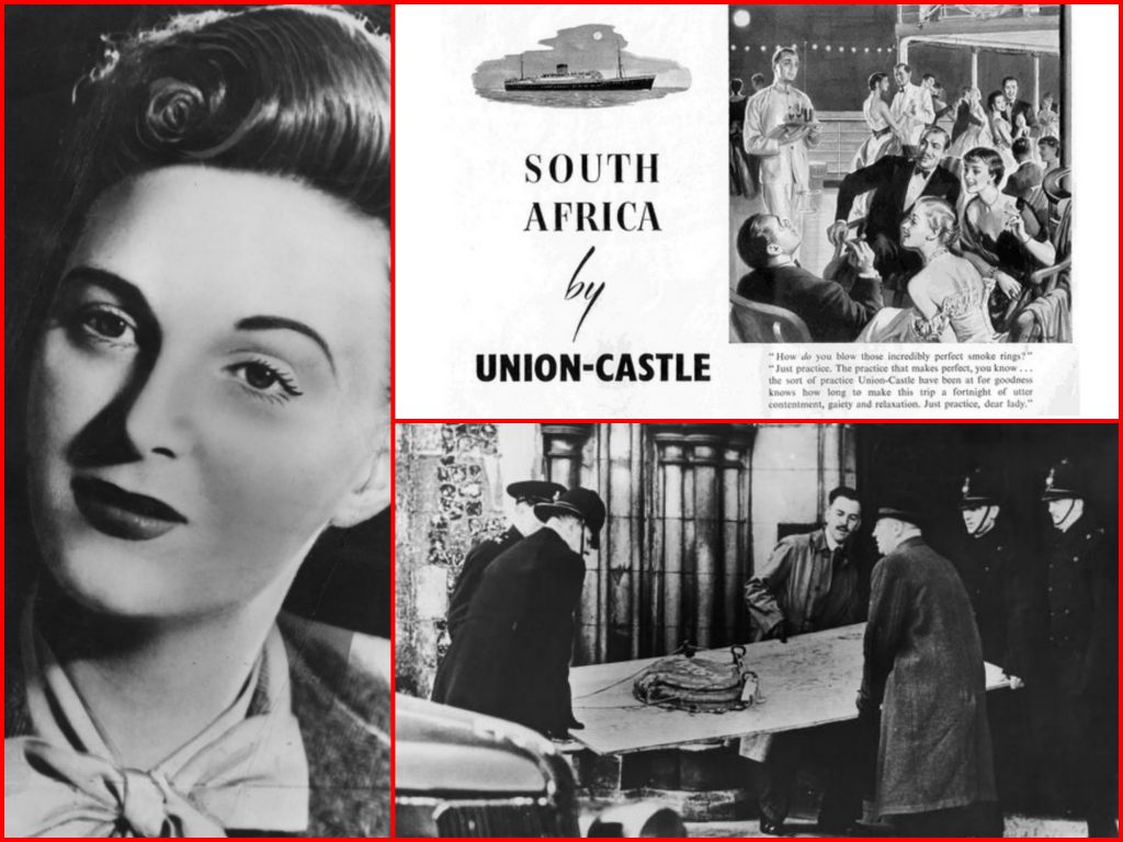 FIRST CLASS, LINER, THE LOVE BOAT, GAY GIBSON, SOUTHAMPTON, MURDER, UNION CASTLE LINE, CRUISING THE PAST, DURBAN CASTLE, JAMES CAMB, MICHAEL L GRACE, DEATH AT SEA, SOUTH AFRICA