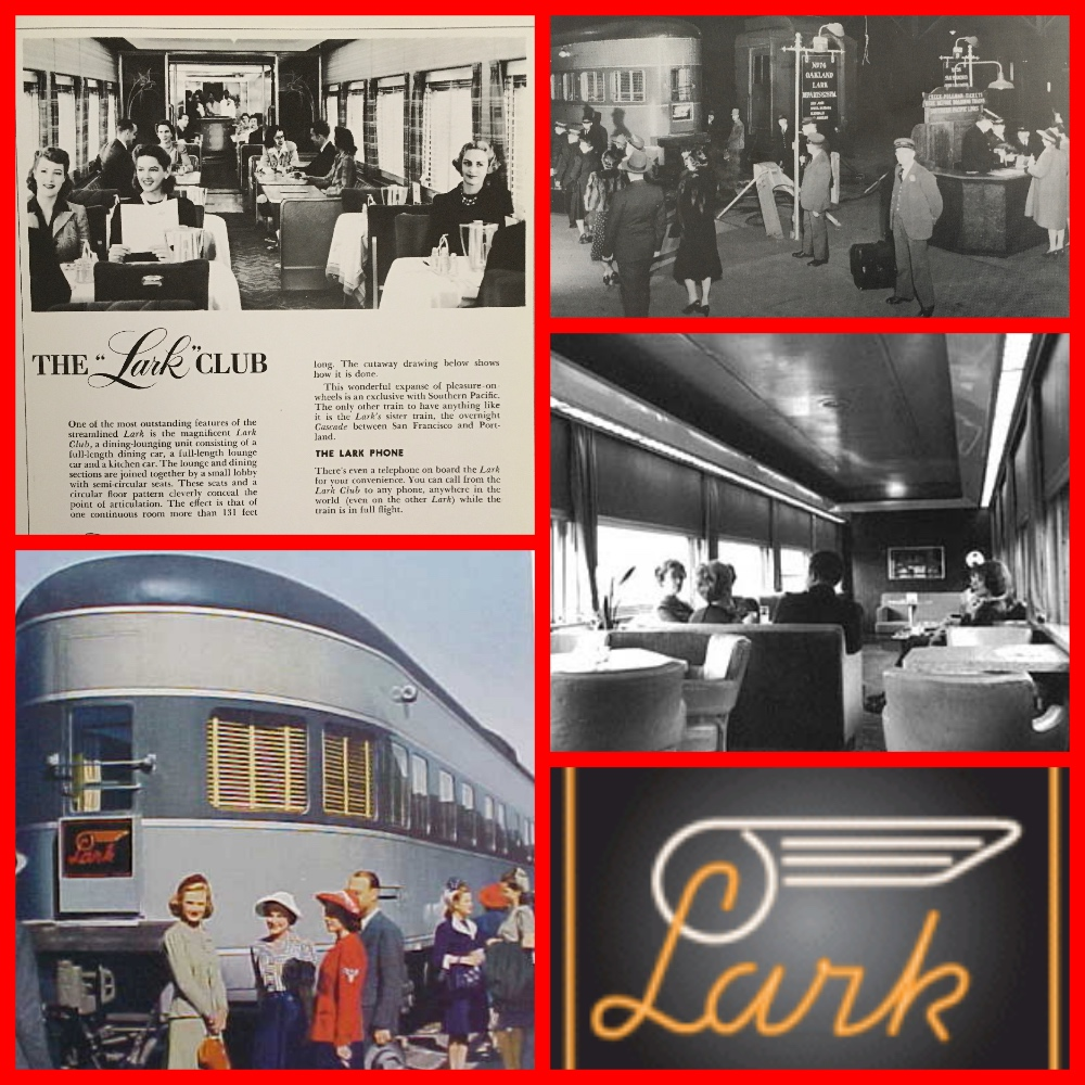 Southern Pacific, Lark, the Lark, all-Pullman, train, sleeper. pullman company, pullman porters, sleeping cars, pullman sleepers, los angeles, san francisco, oakland, 1950s, 1940s, streamliner, overnight trains, cruise the past, michael l grace, cruising the past, travel the now, judy garland