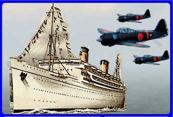December 7th – Having missed Pearl Harbor, the SS Lurline races to California.