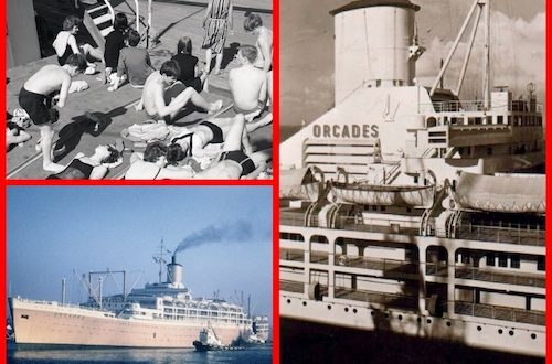 California here we come on the cruise-liner RMS Orcades from mid-century to 1972.