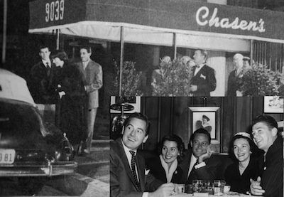 CHASEN'S – The world-famous Hollywood Celebrity restaurant opened in the late 1930s and lasted into the 1990s.