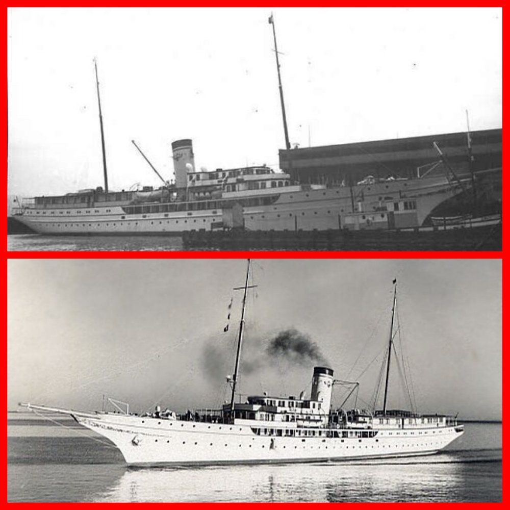 corsair, yacht, j. p. morgan jr., cruises, michael l grace, pacific cruise lines, alaska steamship company, first class, ship sinking